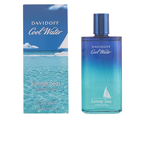 Spray Water Summer Cool (Davidoff Cool Water Summer Seas Limited Edition Eau De Toilette Spray for Men, 4.2 Fluid Ounce)