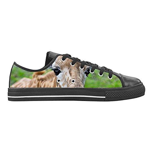 Scarpe Leather Aquila Lace Top Nera Donna Animali di da Low Action Gomma Custom Selvatici CHEESE Up Casual Design Giraffa Sneakers in dEwnqx8Xpn