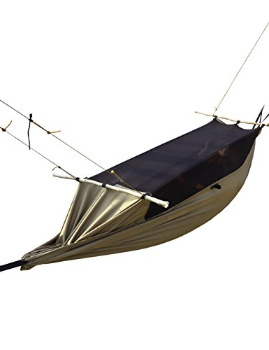 FREE SOLDIER Outdoor Survival Multi-Function Portable Hanging Bed with Mosquito Net Lightweight Tactical Parachute Hammock