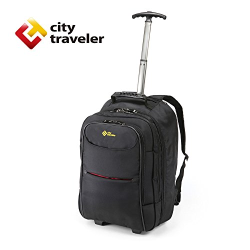 city-traveler-durable-nylon-business-suitcase-carry-on-with-wheels-trolley-backpack