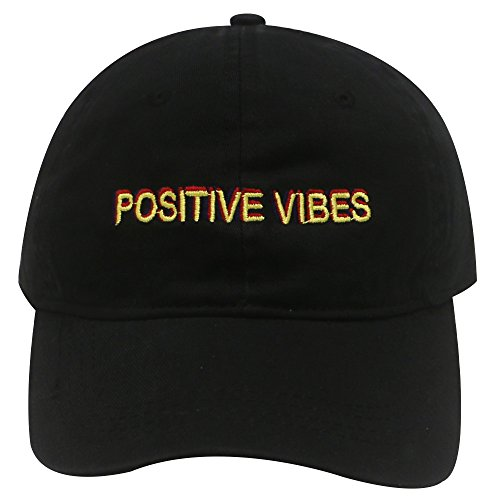 (City Hunter C104 Positive Vibes Cotton Baseball Dad Caps 19 Colors)