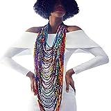 Colorful Handmade African Ankara Necklace Wax Print Dashiki Fabric Necklace Shawl