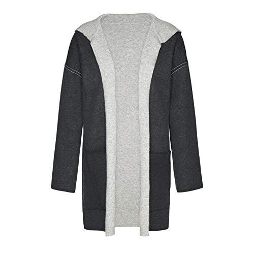 Femme Ceres light Biologique Dark Melange Grey 08 Réversible Pour Armedangels En Tubular Manteau Tricot 8pd8aq