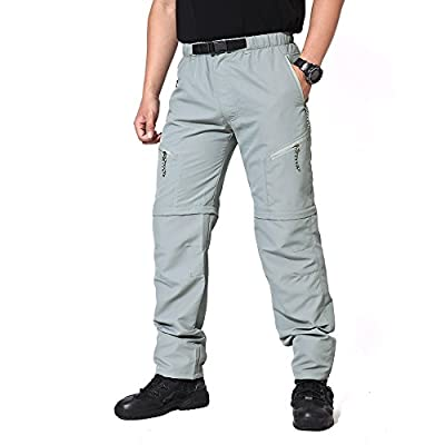 MAGCOMSEN Men's Convertible Quick Dry Hiking Climbing Pants with Adjustable Buckle