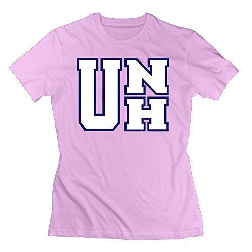 Women's T Shirts Design UNH University Of New Hampshire M Pink