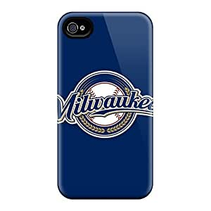 [TdF2762SZue] - New Baseball Milwaukee Brewers 2 Protective Iphone 4/4s Classic Hardshell Case BY icecream design