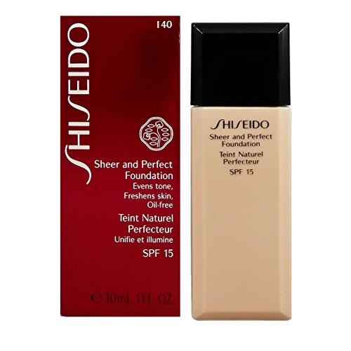 Shiseido Sheer and Perfect SPF 15# I40 Natural Fair Ivory Foundation for Women, 1 Ounce (Sheer Shiseido Foundation)