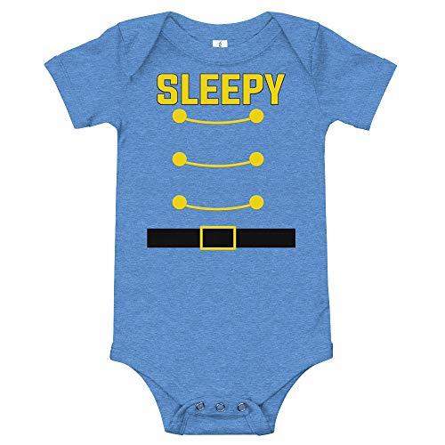 Sleepy Dwarf Halloween Costume Baby Bodysuit Baby Shirt Family Matching Costume Heather Columbia Blue]()