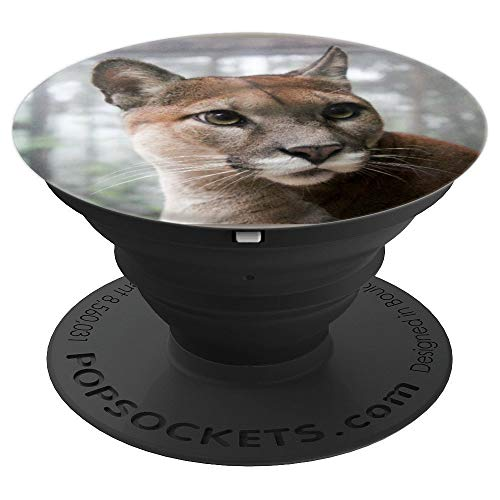(Cougar Face pop socket Mountain Lion - PopSockets Grip and Stand for Phones and Tablets)