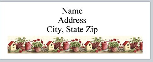 (120 Personalized Address labels Birdhouses Gardening Tools Flowers (P 341) )