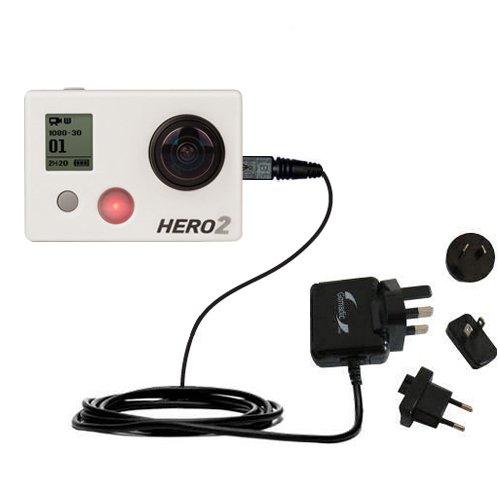 Advanced GoPro Hero 2 2A Steckdosen-Ladegerät International AC mit Marken-TipExchange