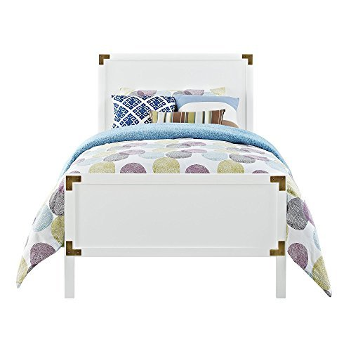 Dorel Living Miles Twin Bed, White