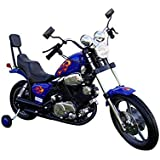 Chopper Motorcycle 6V Kids Battery Powered Ride On Car - Blue
