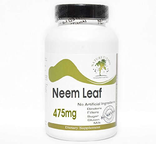 (Neem Leaf 475mg ~ 100 Capsules - No Additives ~ Naturetition Supplements)