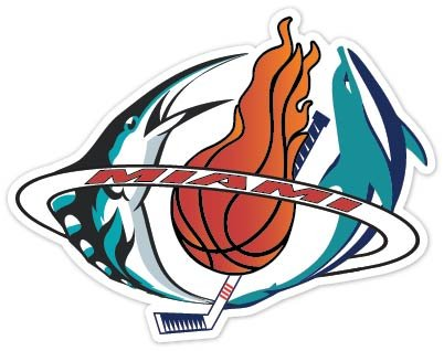 Miami Fan Heat Dolphins Marlins Panthers Sport Combo Logo 4