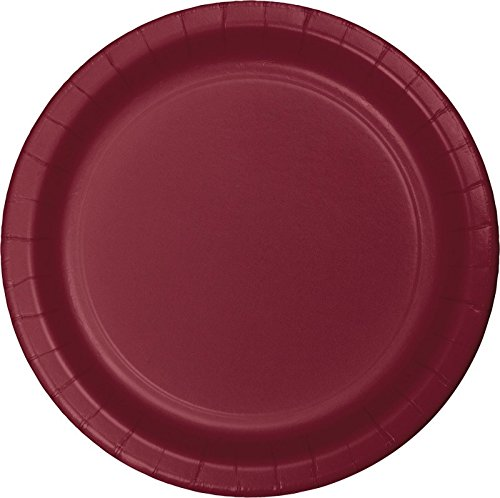 Club Pack of 240 Burgundy Disposable Paper Party Luncheon Plates 7