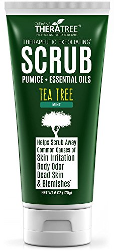 ting Scrub with Activated Charcoal, Neem Oil & Natural Pumice by Oleavine TheraTree (Tea Tree Face Wash)