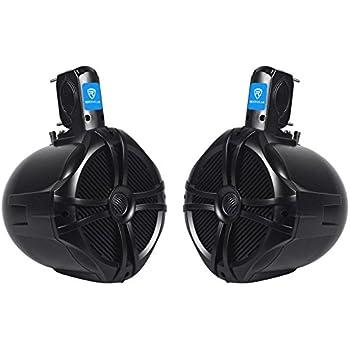 """Pair Rockville RWB80B 8"""" Black 2-Way 300w Off-Road ATV/UTV/Quad Tower Speakers"""