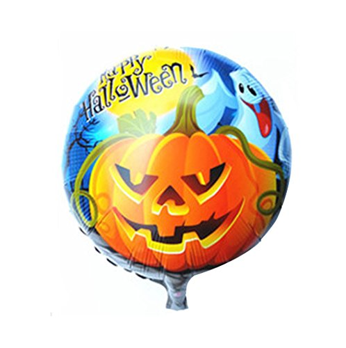 [Charberry Happy Halloween Pumpkin 18 Inch Aluminum Film Balloon (A)] (Horror Makeup Value Kit)