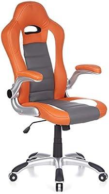 hjh OFFICE RACER SPORT - Silla gaming o de oficina, color naranja ...
