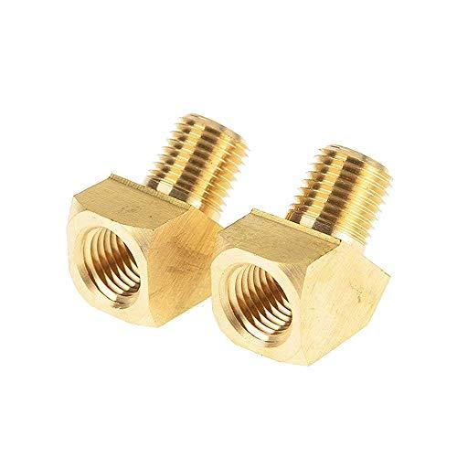 IZTOSS NPT Brass pipe Fitting, 45 Degree Elbow, 1/4