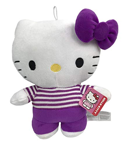 Hello Kitty Plush Doll Toy - Purple Striped Shirt