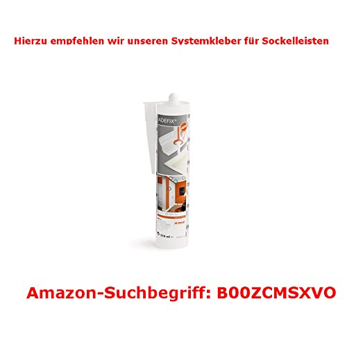 MDF foliert // 721.1040 Sockelleisten Wolfsburg 50 Meter S/üdbrock Fu/ßleisten wei/ß