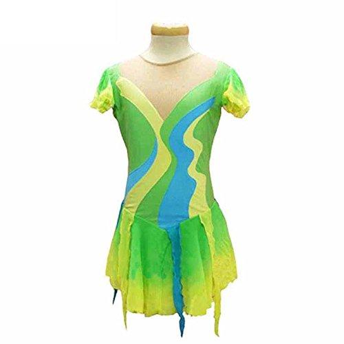 Green Suave Gradient Artístico Diseño S De Del Sobre Chica Compresión Reductor Vestido Xxxs Patinaje Mujer Anatómico Transpirable Hielo Lzzna T8Paqa