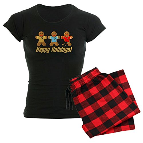 CafePress - Star Trek Gingerbread Men Pajamas - Womens Novelty Cotton Pajama Set, Comfortable PJ Sleepwear ()