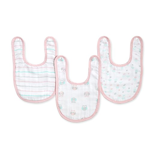 Ideal baby by the makers of aden + anais little bib 3 pack, owls