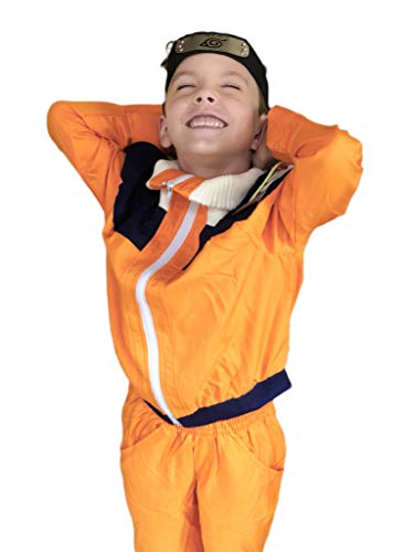 DAZCOS Child Size for Uzumaki Shippuuden Kids Cosplay Costume (Child -