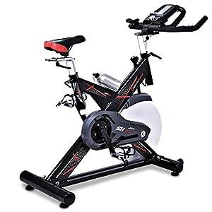 Sportstech Vélo d'Appartement ergomètre SX400 – Marque Allemande de qualité – Video Events & Multijoueur APP, Volant d…