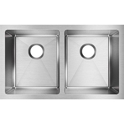 Elkay Crosstown 16 Gauge Stainless Steel, 30-3/4u0022 x 18-1/2u0022 x 10u0022 Equal Double Bowl Undermount Sink