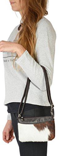 VERI Kuhfell Damen Western Country Style Trachten Tasche exklusive Geschenk Idee Felltasche Handtasche klein braun : )