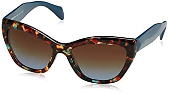 Prada 02QS NAG0A4 Tortoise Blue 02QS Poeme Cats Eyes Sunglasses Lens Category 3