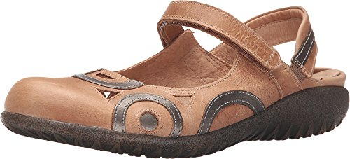 NAOT Women's Rongo Brown Mary Jane Flats 38 M EU, 7-7.5 M