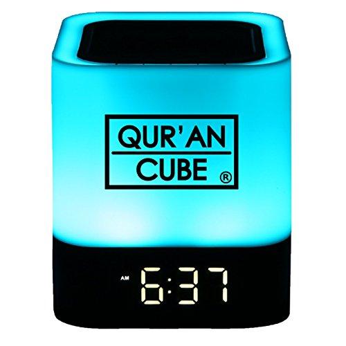 Qur'an CubeⓇ Portable Digital Quran Speaker LED Multicolored Touch Lamp, Bluetooth,AUX,ALARM, 7 Different Recitations Of…