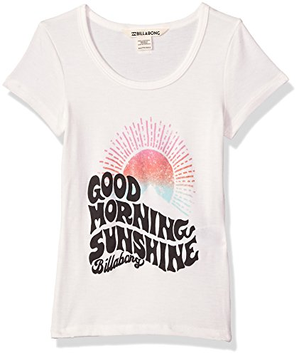 Billabong Girls' Big' Hey There Tee, Cool Whip, -