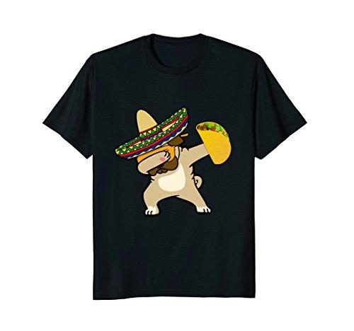 Cinco De Mayo Dabbing Pug Dog Taco Tshirt Mexican Sombrero