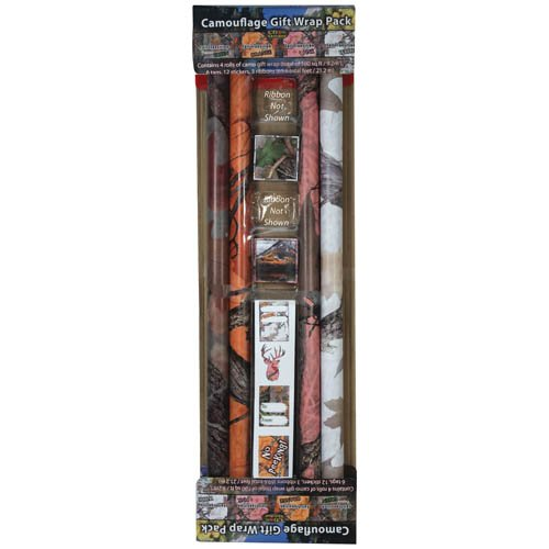 River's Edge Products Camo Wrap Ribbon and Cards ()