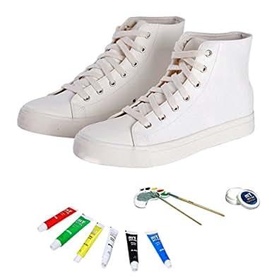 DIY pintura de Kit de zapatos de zapatillas para mujer. Nuevo se puede pintar. Draw zapatos de zapatillas de zapatos de zapatillas con tinta borrable calidad colores., color, talla 37 1/3