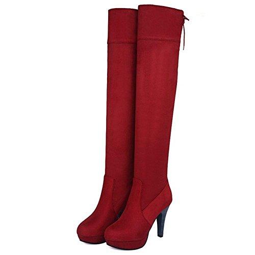 Thigh High Women Boots KemeKiss Heels Red Fashion aE6tqqHwn