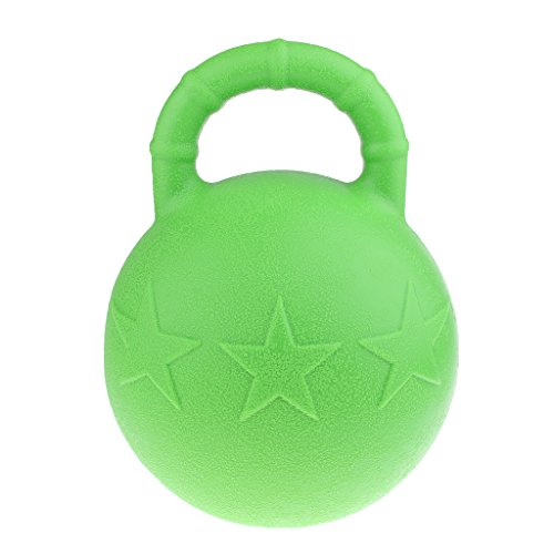 Homyl Horse Toy Game Ball With Apple Scent Horse Trainer Tool Green