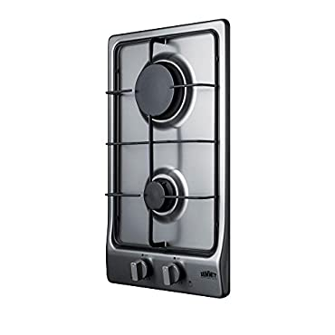 Summit GC22SS 11.5 Gas Cooktop with 2 Burners