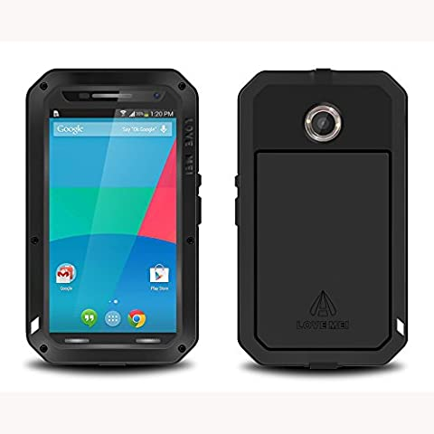 Google Nexus 6 Case,X-CASE [Revolution Series]-[Heavy Duty] Complete Protection Hybrid Case with Built-In Shockproof Aluminum Metal Case Cover for Google Nexus (Nexus 6 Case Aluminum)