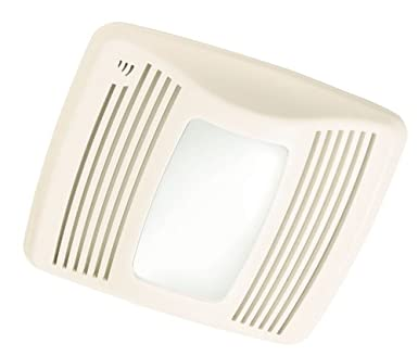 Broan QTX110SL Ultra Silent Humidity Sensing Bathroom Fan With 100 Watt  Incandescent Light