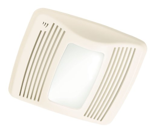 Broan QTX110SL Ultra-Silent Humidity-Sensing Bathroom Fan with 100-Watt Incandescent Light and 4-Watt Nightlight, 110 CFM (Broan Bathroom Fan Light)