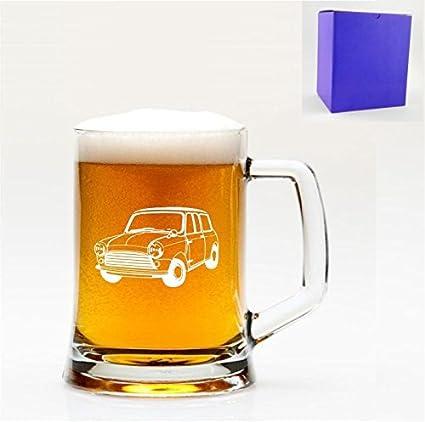 1 vaso de Inglés jarra de cerveza de Classic Mini Cooper diseño de caja de regalo