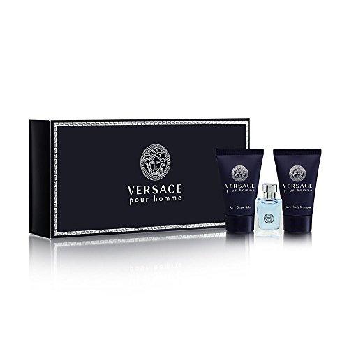 Versace Pour Homme for Men, 3 Piece Mini Gift Set