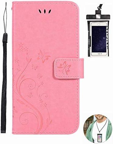 耐摩擦 手帳型 手帳型 Huawei P20 PRO ケース 本革 レザー スマホケース カバー 財布型 耐汚れ 無料付防水ポーチ